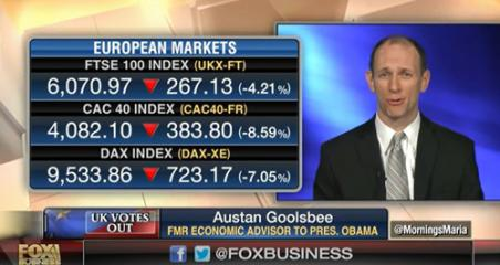 Austan Goolsbee interview on Fox Business